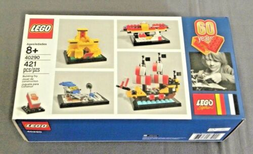 Lego System 60 Years of the Lego Brick Set 40290 New