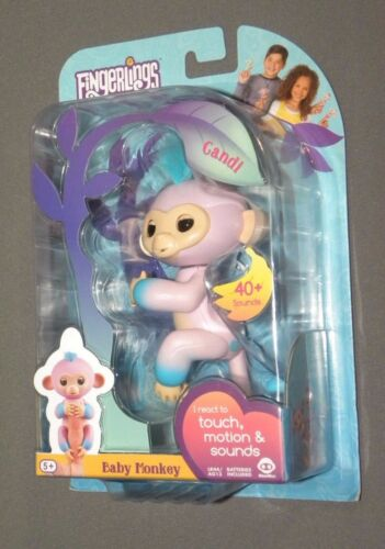 Fingerlings Candi Purple / Blue Baby Monkey Interactive Figure NEW