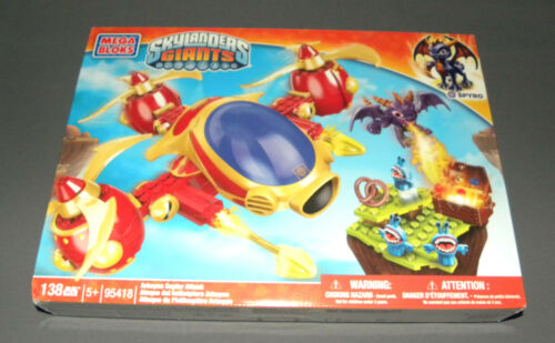 MEGA BLOKS Skylanders Giants Set 95418 Arkeyan Copter Attack w Spyro NEW