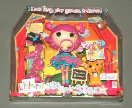 Lalaloopsy Harmony B. Sharp Silly Hair Star Sings, Dances w 6 Hairstyles NEW