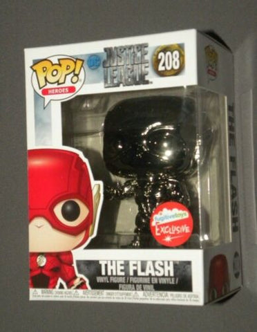 POP! Vinyl The Flash Black Chrome Fugitive Toys NYCC Exclusive 2018 FUNKO