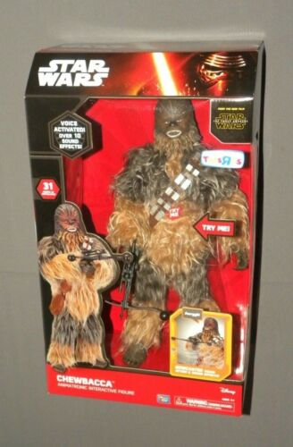 "Star Wars Chewbacca Animatronic Interactive Talking 17"" Figure The Force Awakens"