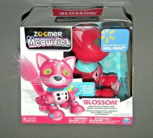 Meowzies Blossom Red Cat Kitty Zoomer Interactive Kitten Pet Toy
