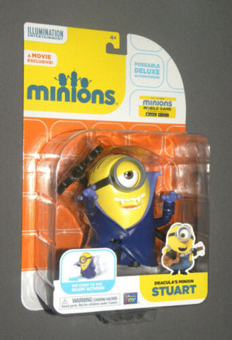MINIONS Movie Dracula's Minion Stuart Vampire Deluxe Poseable Action Figure