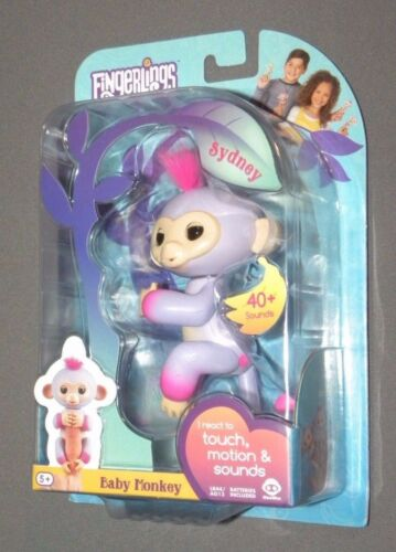 Fingerlings Sydney Purple / Pink Two Tone Baby Monkey Interactive Figure NEW