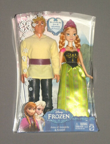 "Frozen Anna & Kristoff Doll 2 Pack Set Disney of Arendelle 12"" Movie Figure NEW"