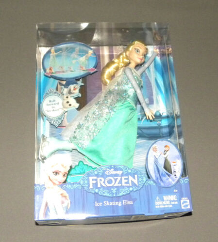 "Disney Frozen Ice Skating Elsa Doll 12"" Movie Figure NEW"