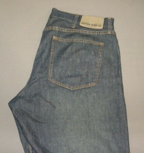 Nautica Men's Blue Jeans Pants 38W x 32L Relaxed Fit Lightly Used