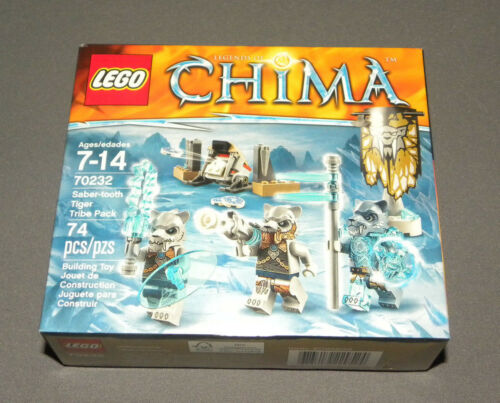 LEGO Saber-tooth Tiger Tribe Pack Set 70232 Legends of Chima 3 Minifigures