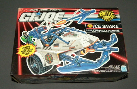 Vintage GI Joe Arctic Attack Vehicle Battle Corps Cobra Ice Snake MISB Sealed