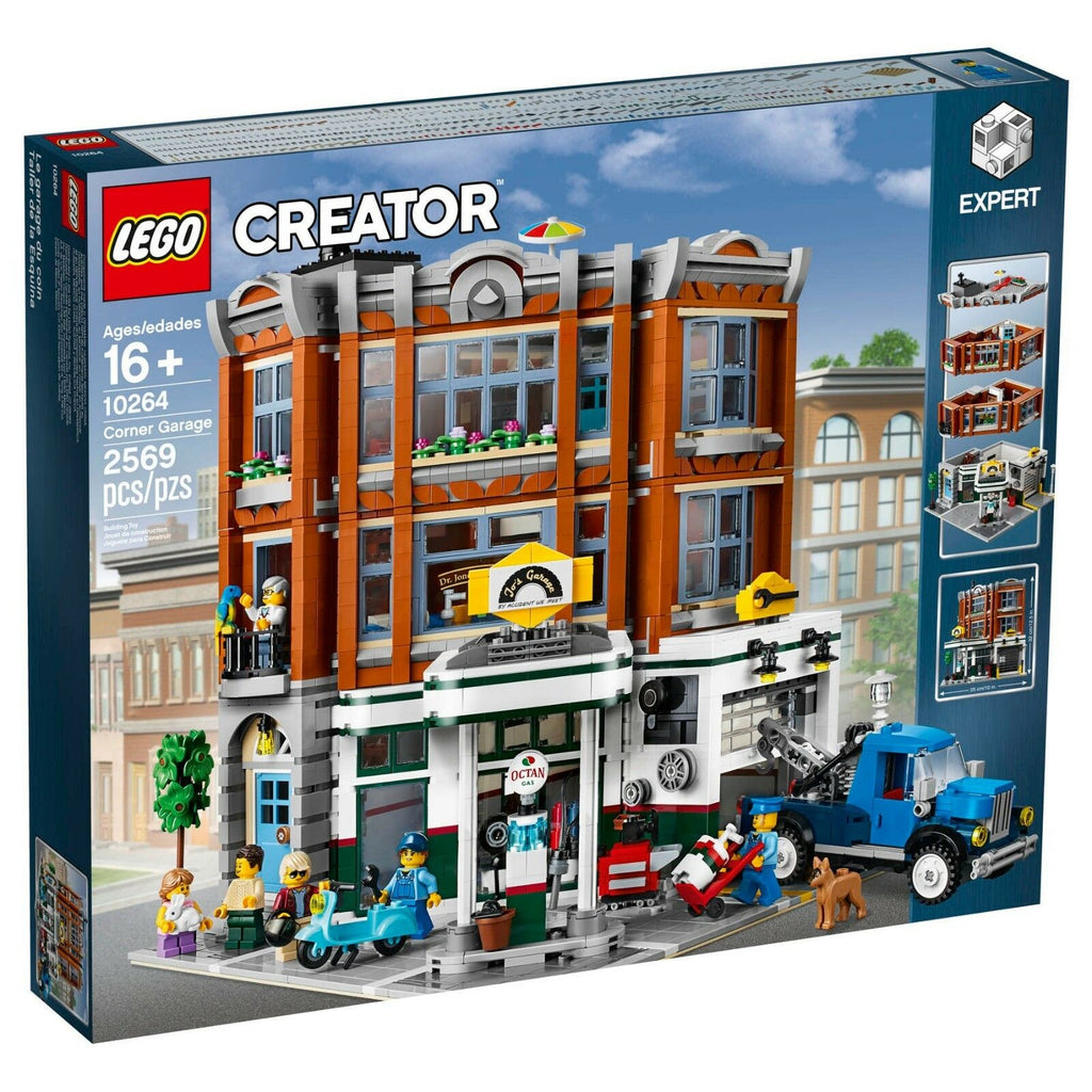 LEGO Corner Garage Gas Station 10264 CREATOR Expert Modular Building Set NEW