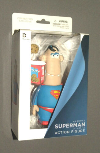 Aardman Superman Classic Action Figure NYCC Convention Exclusive w Cookie Box