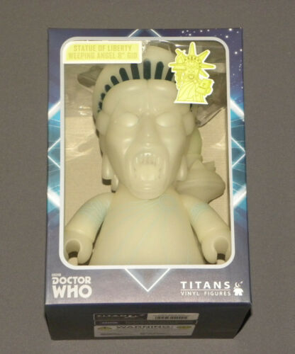"BBC Doctor Who Vinyl Statue of Liberty Weeping Angel 8"" Glow in the Dark Figure"