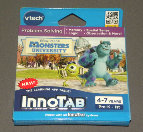 Monsters University InnoTab 3 Software Problem Solving Game Memory Logic Vtech