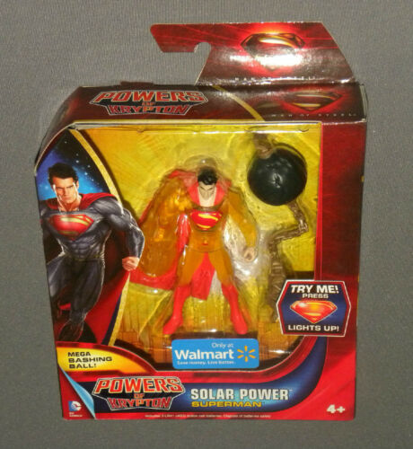 Powers of Krypton Solar Power Superman Light Up Action Figure Mega Bashing Ball