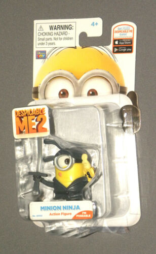 Despicable Me 2 ME2 Minion Ninja Highly Detailed Poseable Action Figure 2.5""