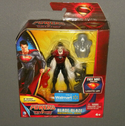 Superman Powers of Krypton Blade Blaze General Zod Light Up Action Figure NEW