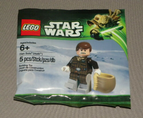 Star Wars Bagged Han Solo (Hoth) Minifigure LEGO 5001621 2013 Polybagged NEW