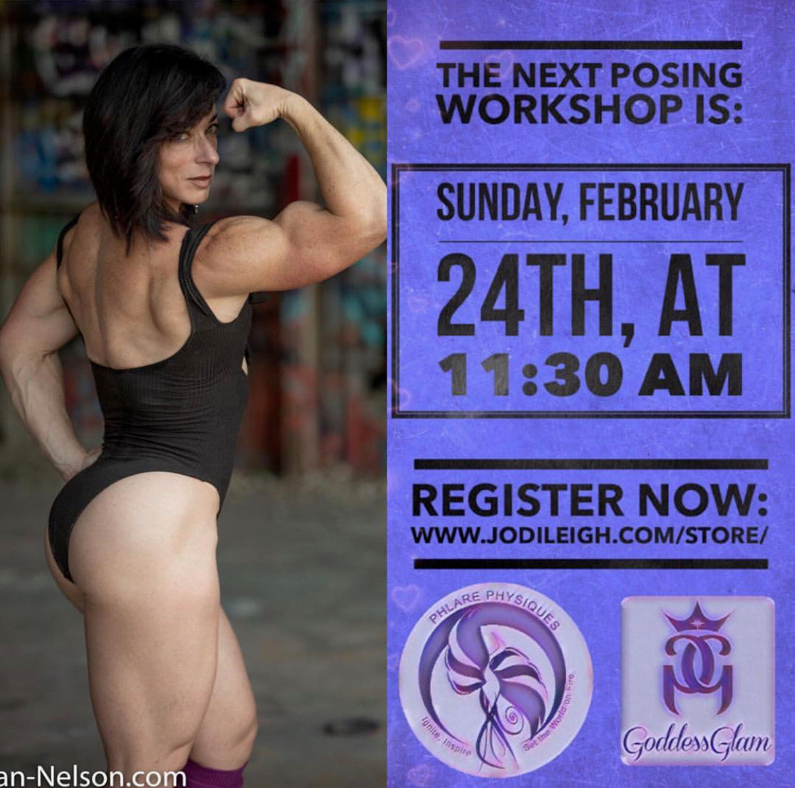 IFBB Pro Jodi Miller's Posing Workshop Sunday, February 24th