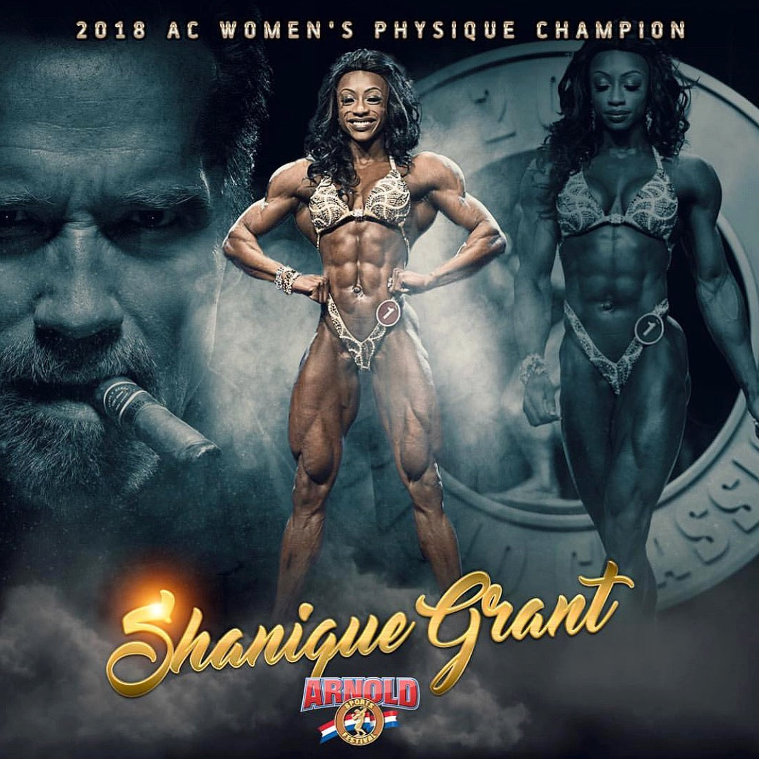 "IFBB Women's Physique Pro and GODDESS Shanique ""The Future"" Grant Wins Arnold Classic!"