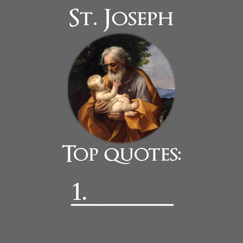 Quotes from St. Joseph - T-Shirt