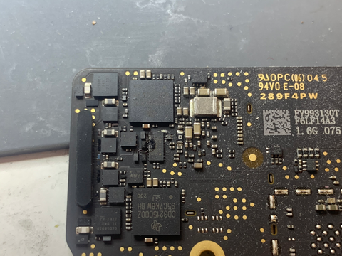 The PI3USB32 Had Two Holes In It