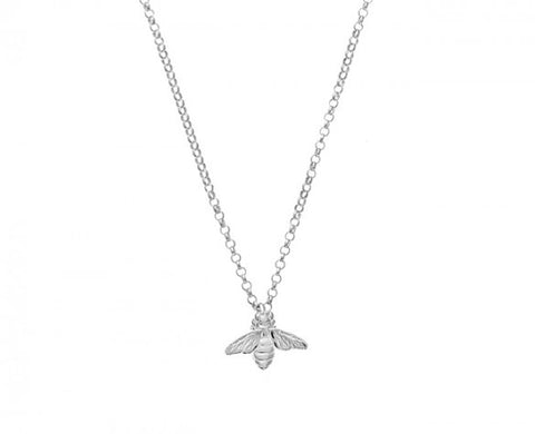 18 Inch Signature Bee Necklace in Sterling Silver