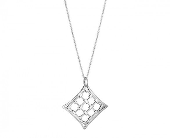 2 Inch Veneto Large Pendant Necklace In Sterling Silver Couleurs
