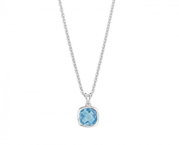 Etoiles Blue Topaz Pendant Necklace on 16 to 18 Inch Chain