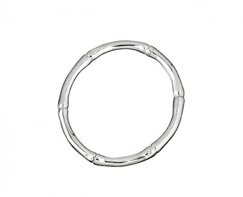 6mm Sterling Silver Bamboo Hinged Bangle Bracelet