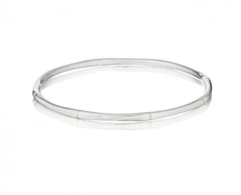 3mm Sterling Silver Bamboo Plain Bangle