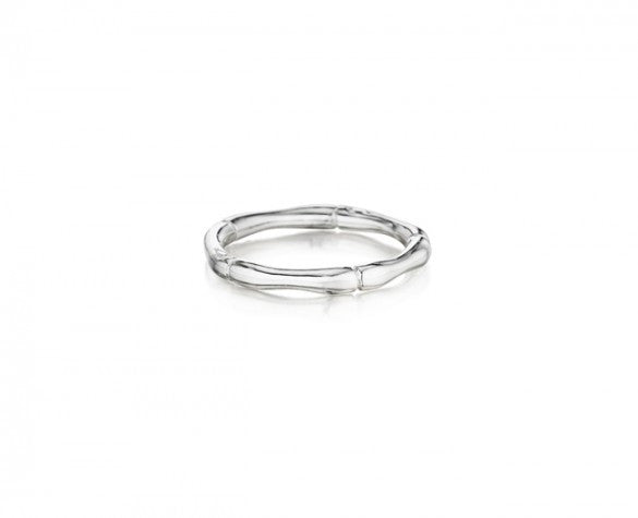 2 mm Sterling Silver Bamboo Stackable Ring