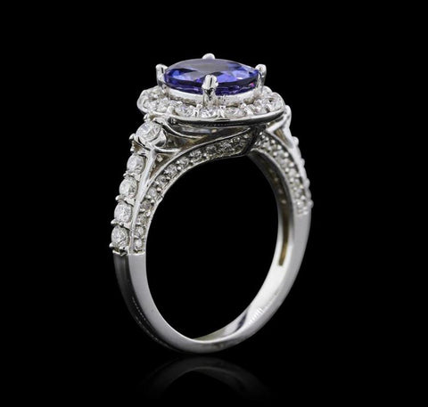 14KW 2.20 Tanzanite and Diamond Ring