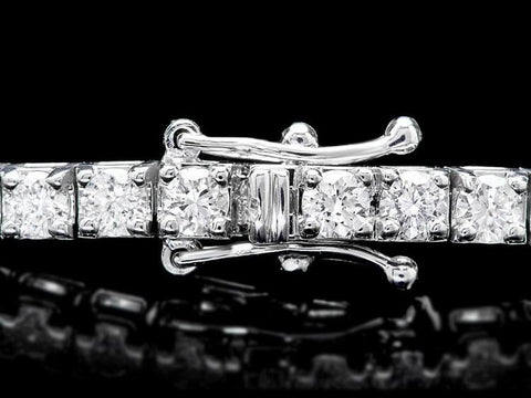 18KW 4.5ct Diamond Bracelet