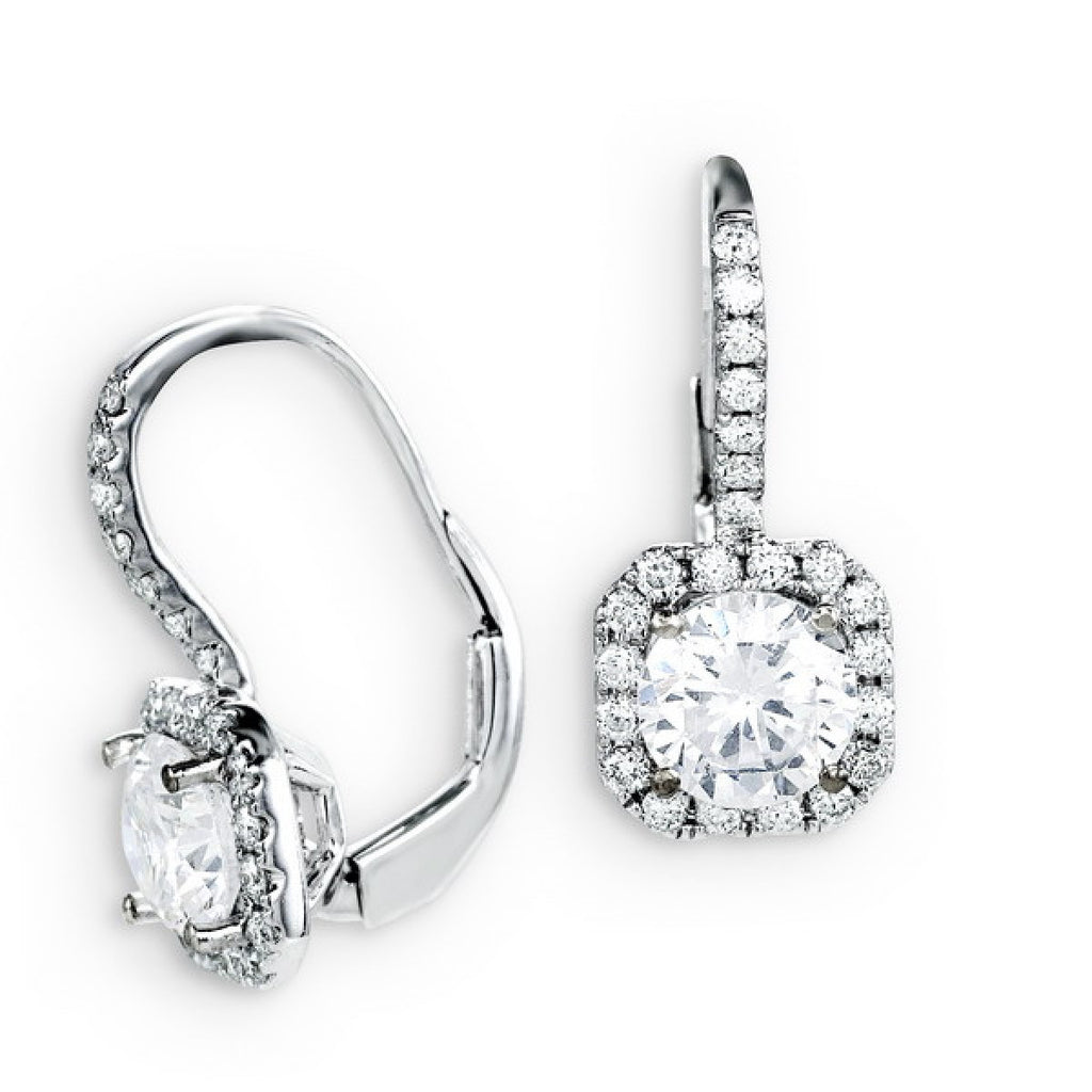 18KW Diamond Earrings 0.42 ctw