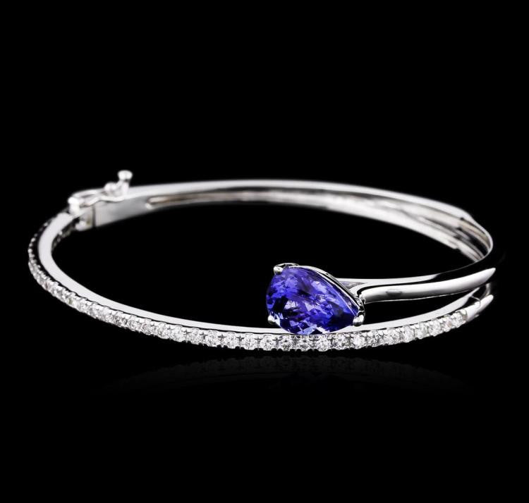 14KW 3.21ct Tanzanite and Diamond Bracelet