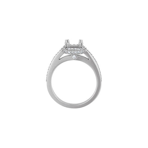 14K White Gold Engagment Ring 1/2ct center princess-cut diamond with 1/3ct accent diamonds.