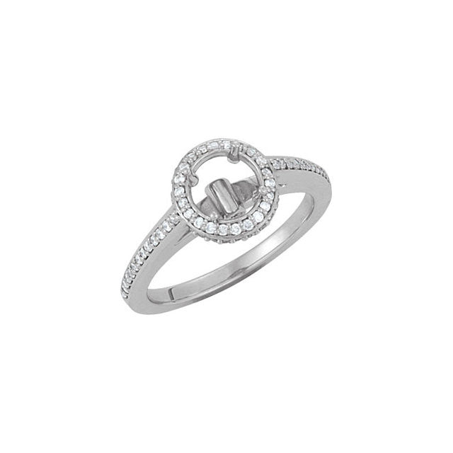 14K White Gold Engagment Ring 1/2ct center diamond with 1/3ct accent diamonds.
