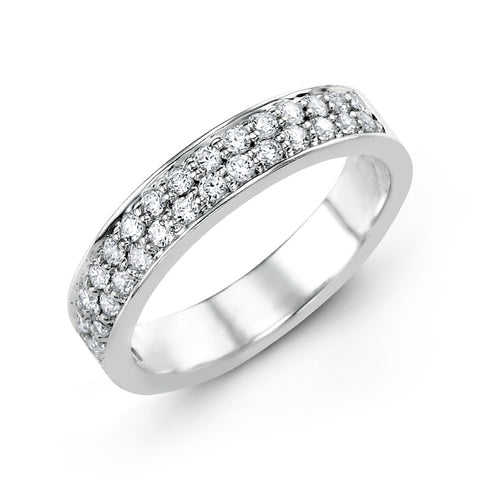18KW Diamond Fashion Band 0.50 ctw