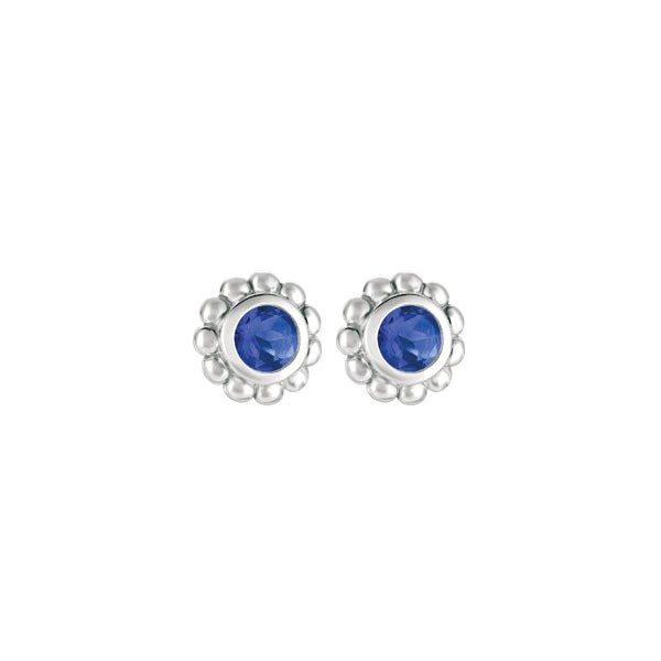 Iolite Sparkler Earrings in Sterling Silver