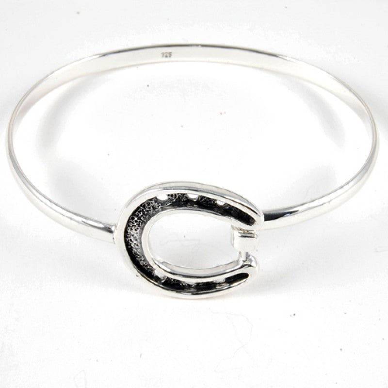 Sterling Silver Horse Shoe Bangle