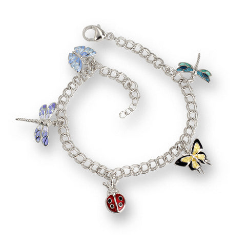 Vitreous Enamel on Sterling Silver Insects Bracelets