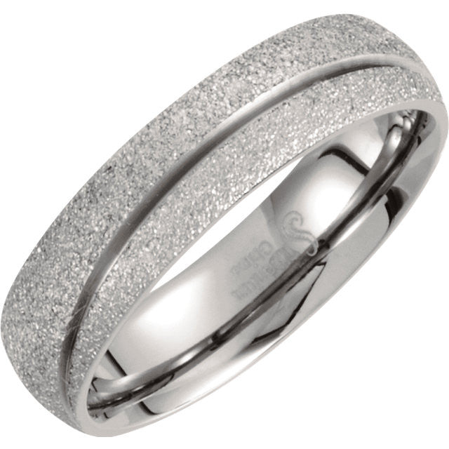 Titanium Sandblast 6mm Men's Design Band