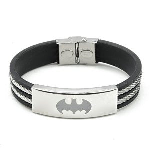 Batman Black Rubber Bracelet