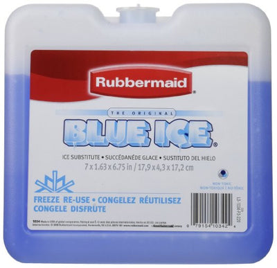 "Rubbermaid® - Blue Ice Brand Ice Pack, 7"" x 1.63"" x 6.75 (3 Pack)"