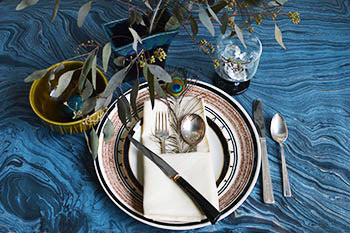 Vintage Holiday Table Settings, 4 Ways