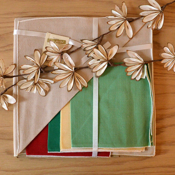 mid-century table linens