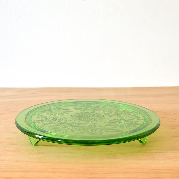 1930s Depression glass cake stand - You & Yours Fine Vintage
