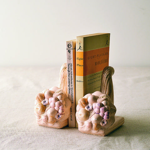 chalkware cornucopia bookends - You & Yours Fine Vintage