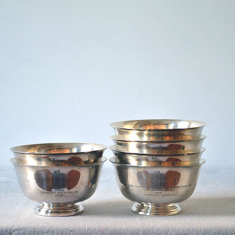 silverplate culinary trophies